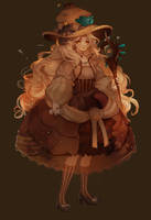 SET PRICE | Fossil Witch! [CLOSED] | + SPEEDPAINT by Hoshi-Pan