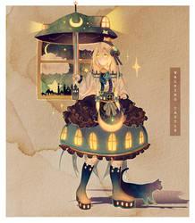 Walking Castle | +Speedpaint by Hoshi-Pan