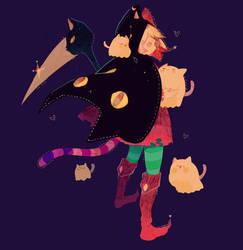 Inktober Day 2   Cat Reaper! by Hoshi-Pan