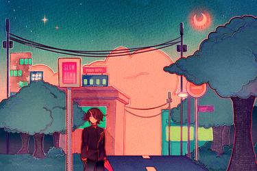 Night Walk by Hoshi-Pan