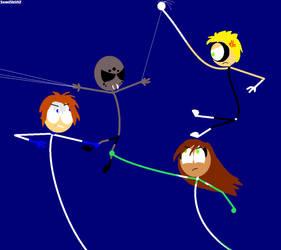 Elastic Heroes vs Weaver Monster! by SemISkUIZ