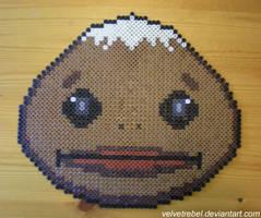 Goron Mask - Perler Beads by VelvetRebel