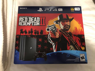 My PlayStation 4 Pro with Red Dead II by DestinyDecade
