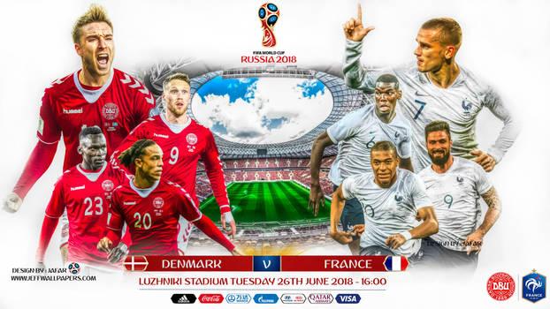 DENMARK - FRANCE WORLD CUP 2018 by jafarjeef