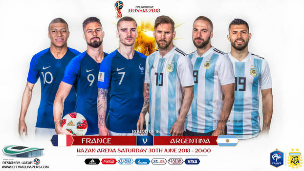 FRANCE - ARGENTINA WORLD CUP 2018 by jafarjeef