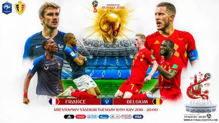 FRANCE - BELGIUM SEMI FINAL WORLD CUP 2018 by jafarjeef