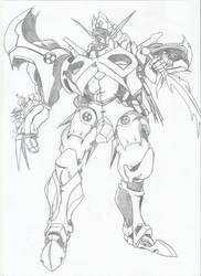 Dangaioh sketch by RyugaSSJ3