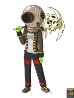 Starbound: my character (Novakid) by JoTheWeirdo