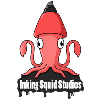 Inking Squid Studios Logo Design by JoTheWeirdo