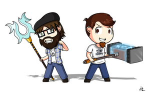 Orrador and Cory Says (Fan art) by JoTheWeirdo