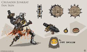 Overwatch Junkrat: Crusader Fan Skin by JoTheWeirdo
