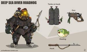 Overwatch fan skin: Deep Sea Diver Roadhog by JoTheWeirdo