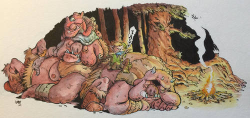 Watercolor Zelda by MorganLuthi