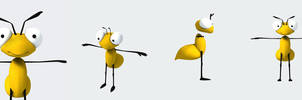 Bee character by ylimani