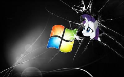 Aww man i broken your windows by MissRarityGenerosity