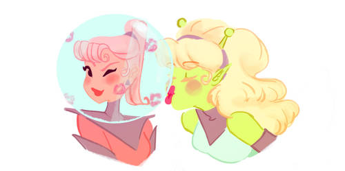 Space Gal Pals by YaneYing