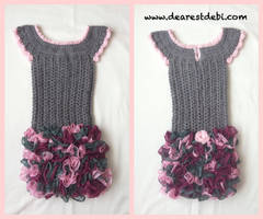 Crochet Dress - Little Miss Ruffles by DearestDebi