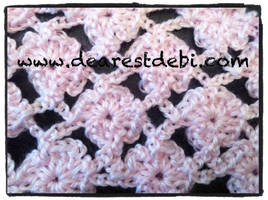 Crochet Flower Lattice Stitch by DearestDebi