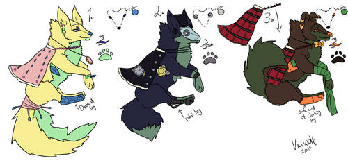Adopts - OPEN 2/3 by ViciWolf
