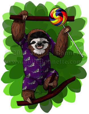 Lolly Sloth by JolieBonnetteArt
