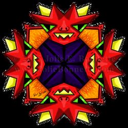 Lil' Demon Mandala by JolieBonnetteArt