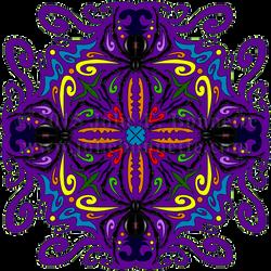 Arachnophobia Mandala by JolieBonnetteArt