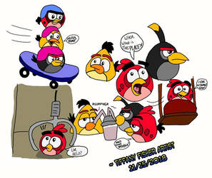 Angry Birds On the Run Doodles by ANGRYBIRDSTIFF