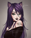 Purple Cat Girl by Mari945