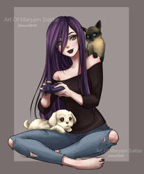 Pets and Video Games: LOVE by Mari945
