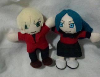 Haruka and Michiru plush for sale by IrashiRyuu