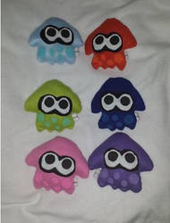 Splatoon Sanei Squid Plushies For Sale by IrashiRyuu