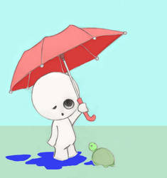 Little Lost in the rain by Marius-san