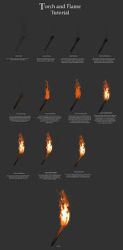 Torch and Flame Tutorial by Kimberly-SC