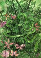 Serpent(coloured version) by nikoskap