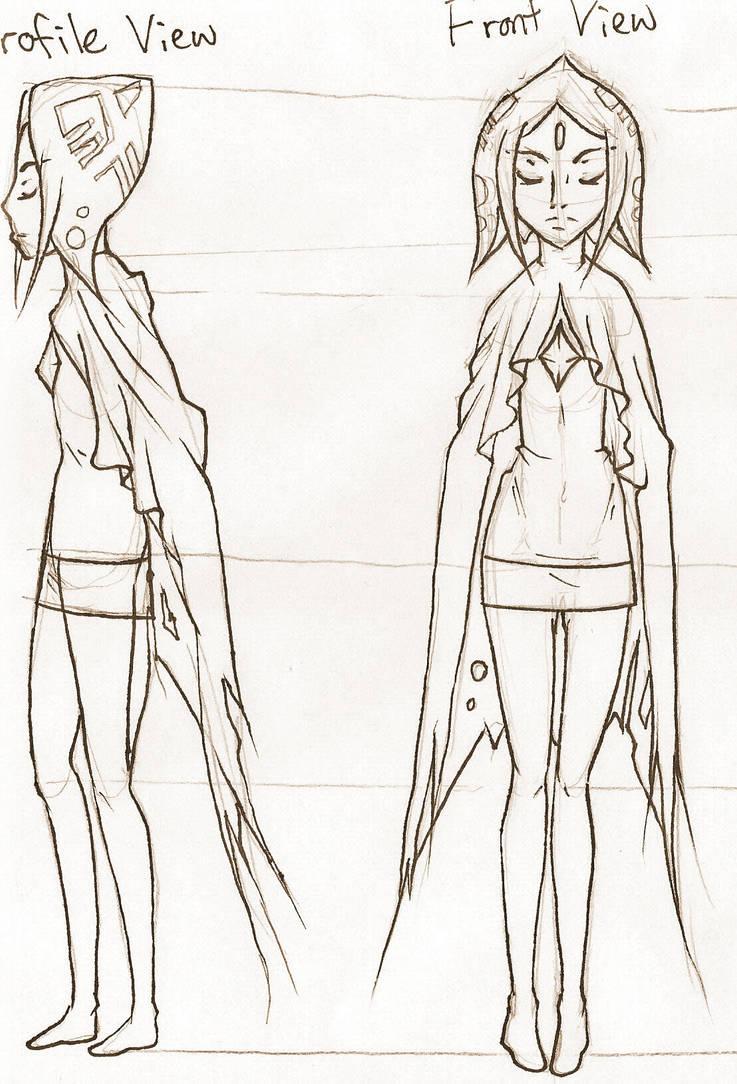 Karina, LoZ Wii Modelsheet 1 by JinzouTamashii