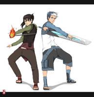 Niogi and Ryo fin by AxelBlade