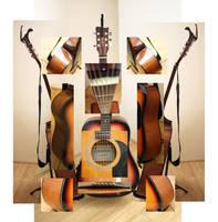 Dismantled Guitar by Charlene-Art