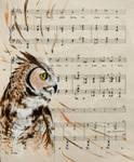 Owl Music by Charlene-Art