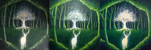 Magic Forest WIP by Charlene-Art