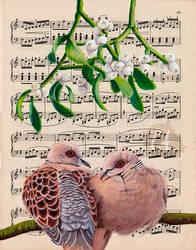 Turtle Doves by Charlene-Art