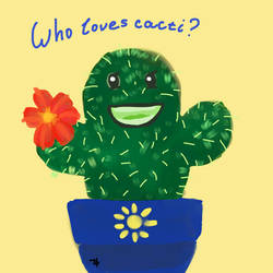 who loves cacti by Hamanic