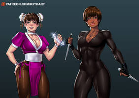 Patreon commission - Nena and Lucy by R3YDART