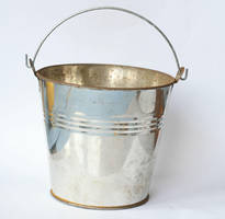 silver metal bucket by doko-stock