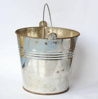 silver metal bucket 02 by doko-stock