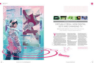Virtual Sets | Computer Graphic Masters magazine by Tysall