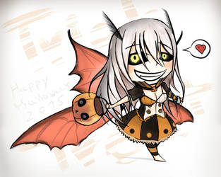 Freya The moth girl : Happy halloween 2015 by Tawan103loi