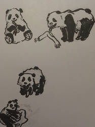 panda zombies by Yukarie-chan11