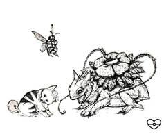Sketches: Venusaur, Growlithe, Beedrill by PokeShoppe