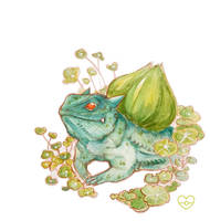 Sunny Day Bulbasaur by PokeShoppe