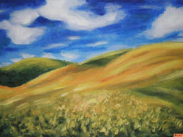 + oil painting: hills by al1563